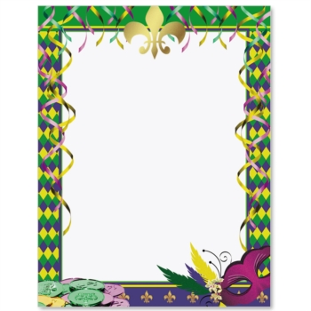 ... Free Clipart Images. Mardi Gras Affair Border Papers | PaperDirect