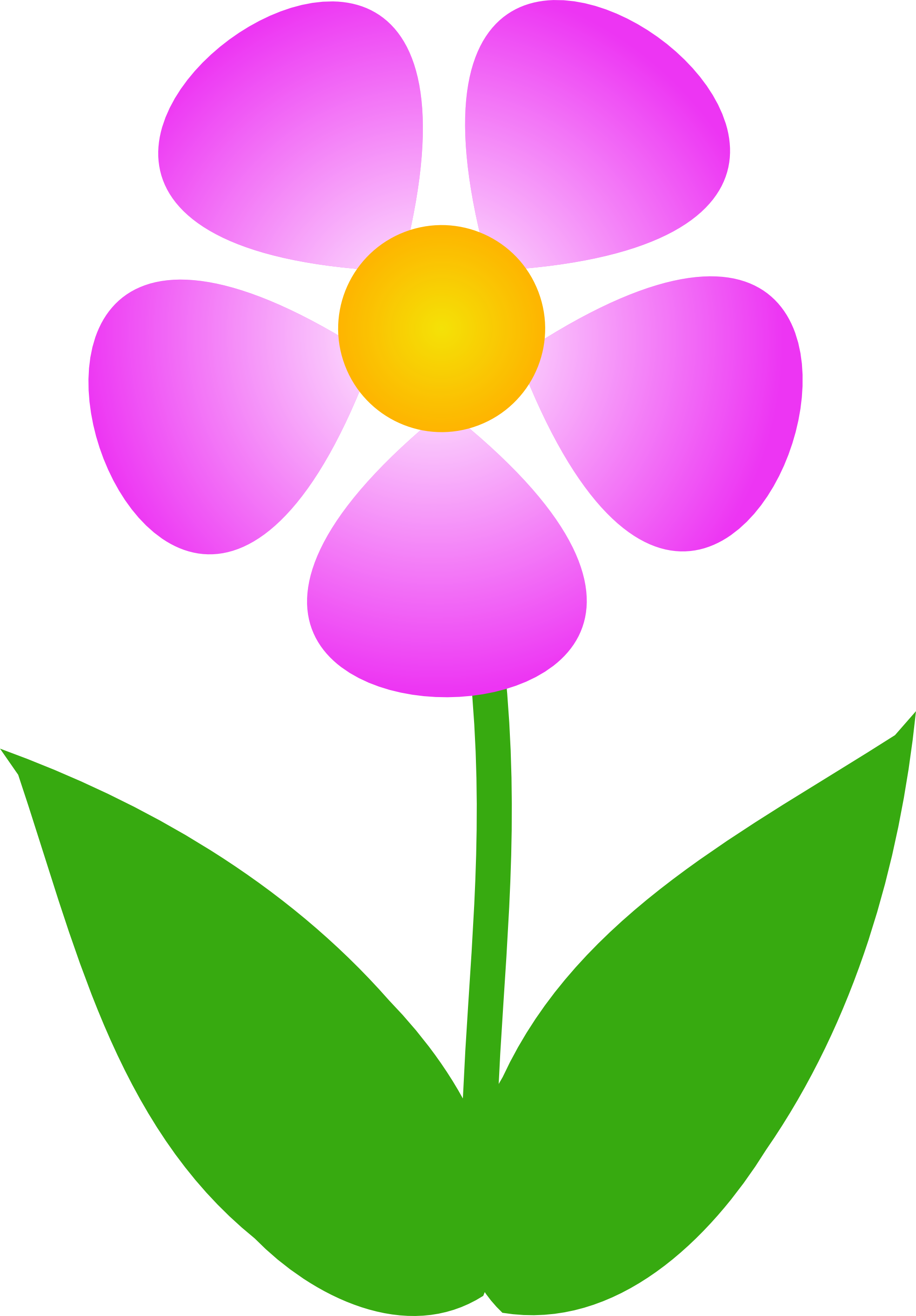 Free clipart images of flowers .
