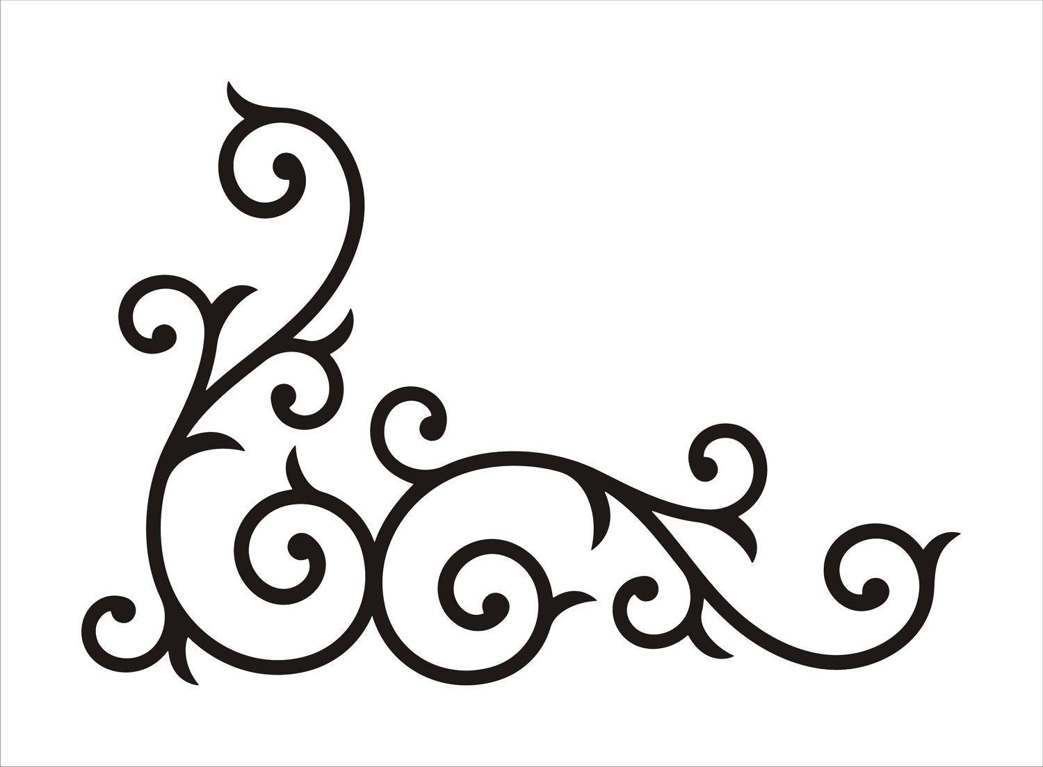 ... Free Clipart Images. Scroll Work Corner Template - NextInvitation  Templates
