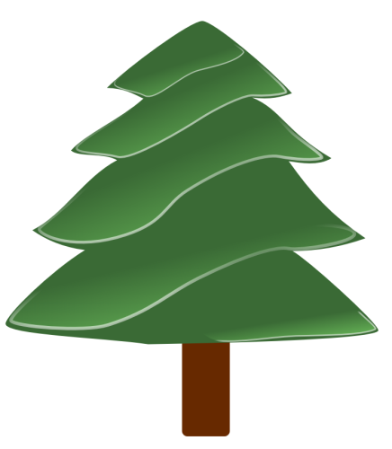 Free Clipart Of Christmas Tree Clipart Of A Simple Evergreen Tree