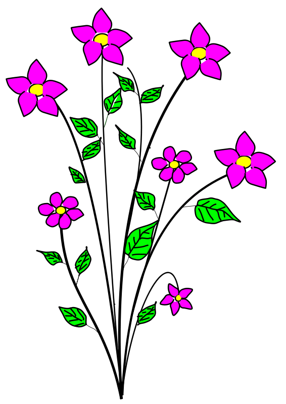 Free clipart of flowers illustration