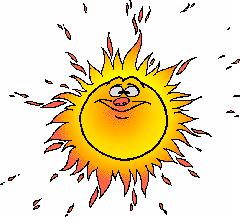 Hot Sun Clipart