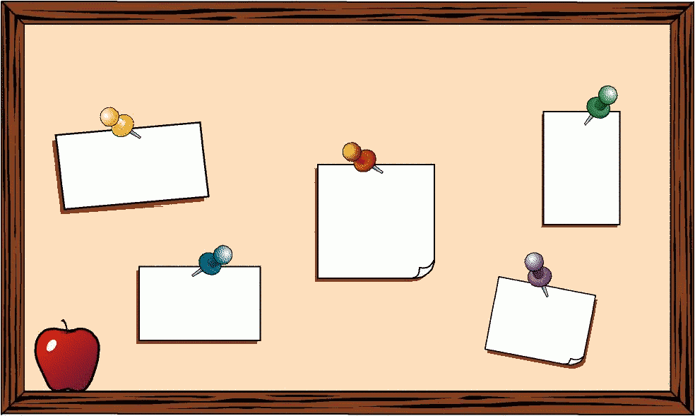 Free Clipart Of Teacher Clipart Picture Of A School Bulletin Board