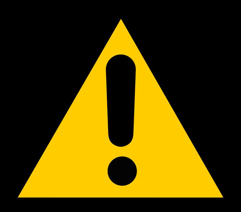 Free Clipart of Warning. Warning cliparts