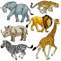 Free Clipart Of Zoo Animals .-Free clipart of zoo animals .-6