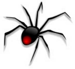 Free Clipart Picture Of A Black Widow Sp-Free Clipart Picture of a Black Widow Spider-16