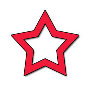 Free Clipart Picture of an Open Red Star - Polyvore .