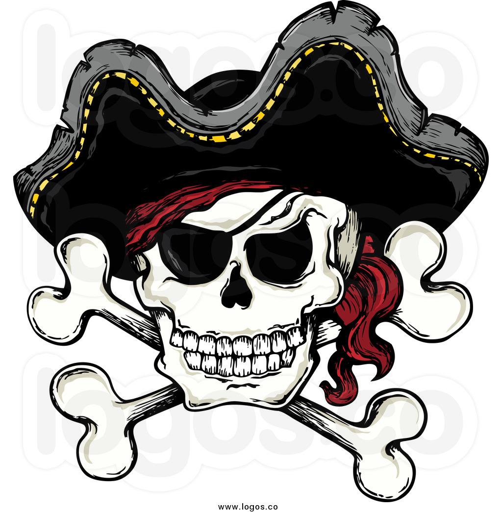 Free Clipart Pirate Skull. #WritingWenches and Pirates .