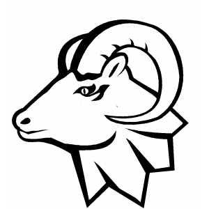 ... Free clipart rams head .. - Ram Head Clip Art