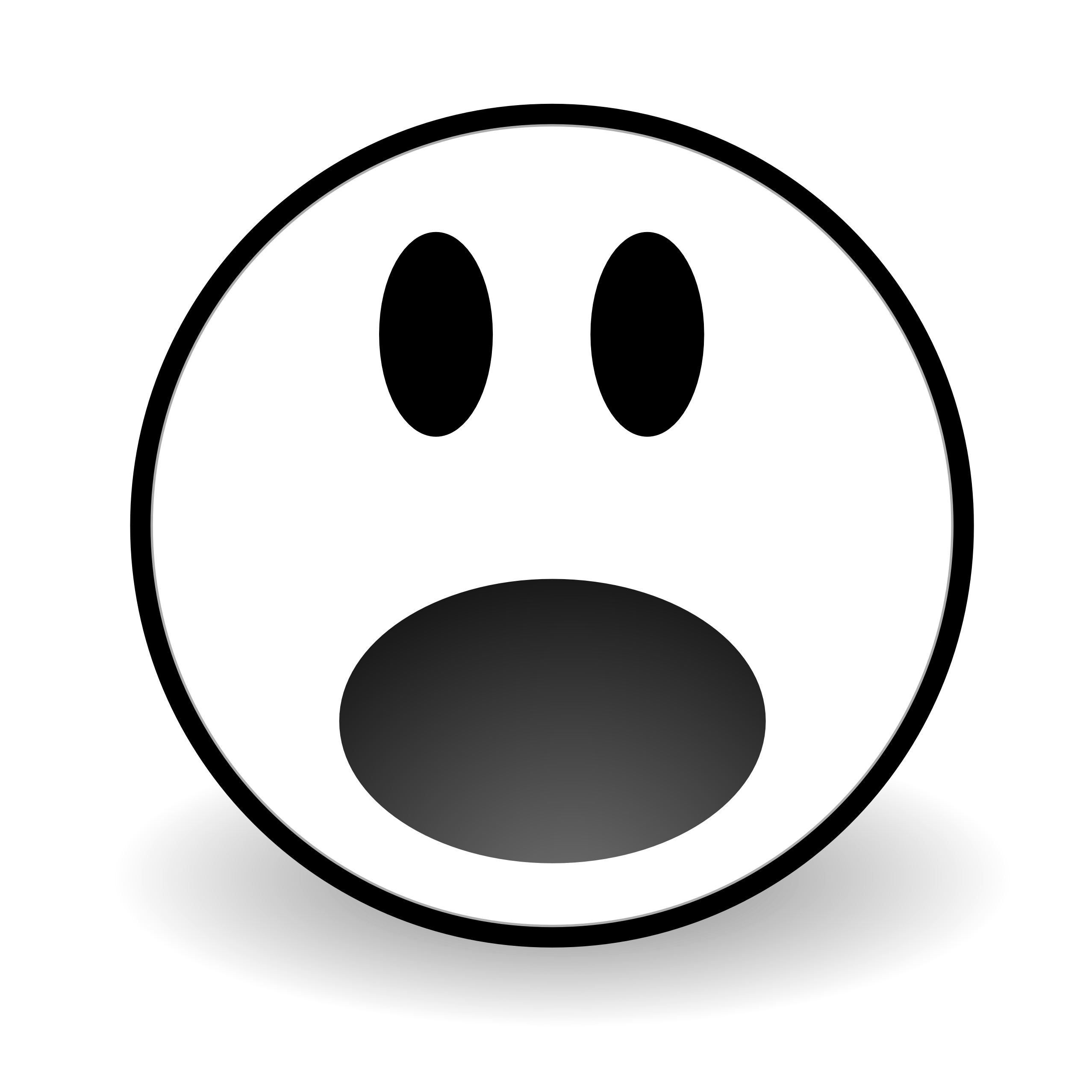 Free clipart scared face - .