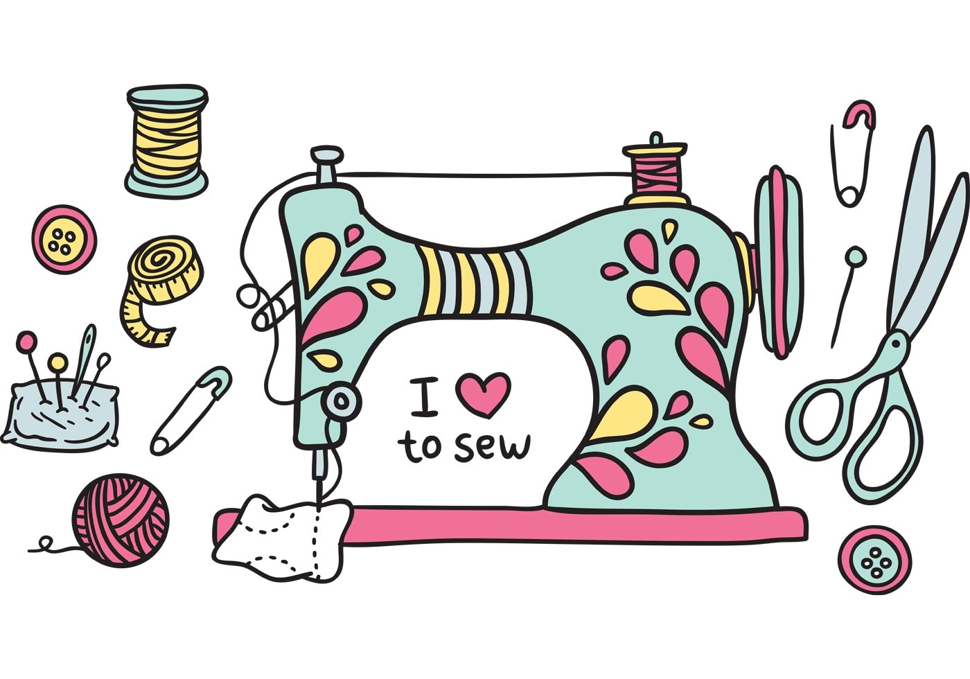 Free clipart sewing machine-Free clipart sewing machine-12