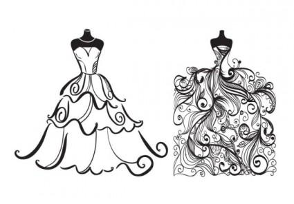 Free Clipart Wedding Dress .-Free Clipart Wedding Dress .-10