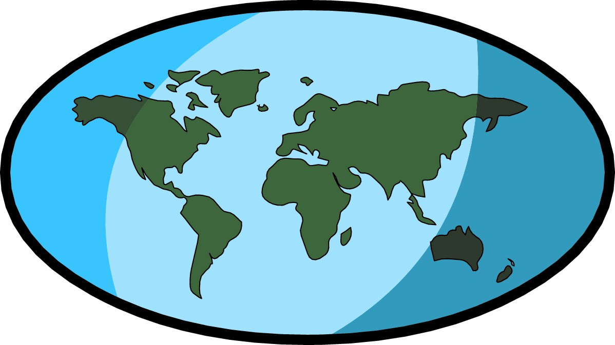 Free clipart world map - .