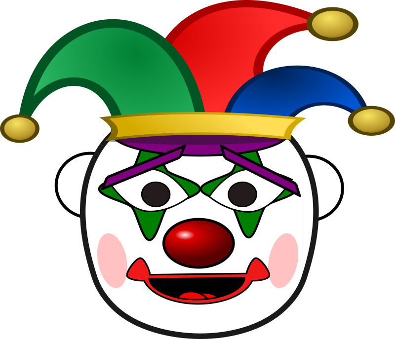 Free Clown Face Clip Art