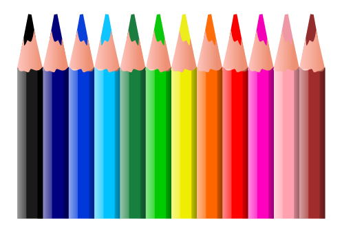 Free Colored Pencil Clipart-Free Colored Pencil Clipart-3