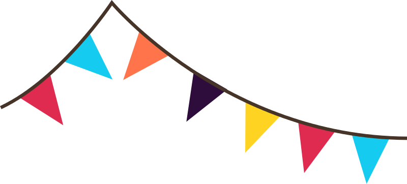 Free Colorful Bunting Clip Art