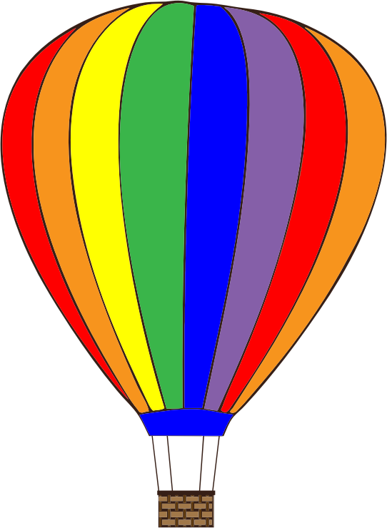 Free Colorful Hot Air Balloon Clip Art