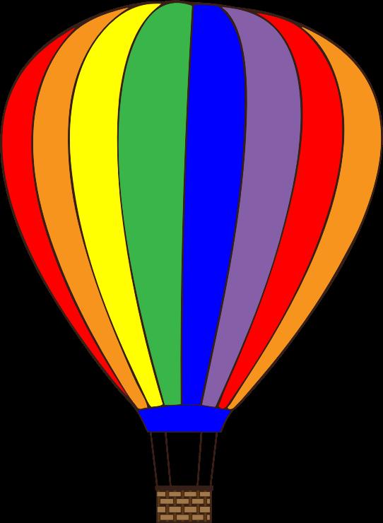 Free Colorful Hot Air Balloon Clip Art