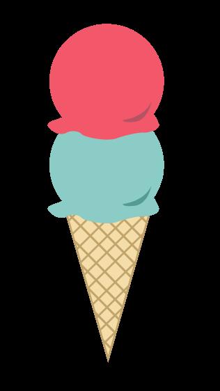 Ice cream colorful. Clip art cone