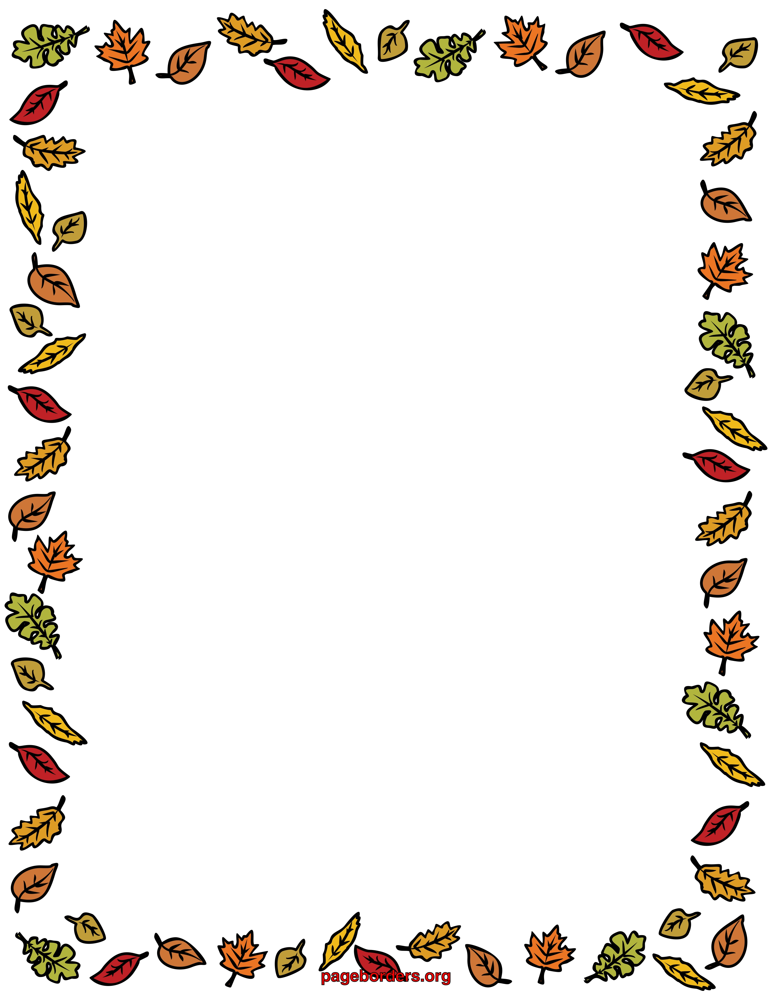 Free Coloring Pages Of Autumn Border