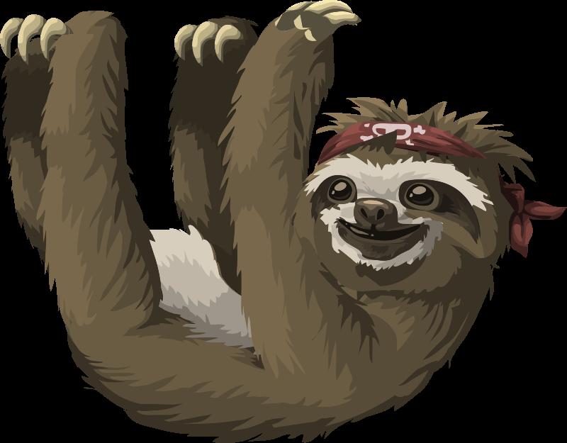 Free Cool Sloth Clip Art-Free Cool Sloth Clip Art-4