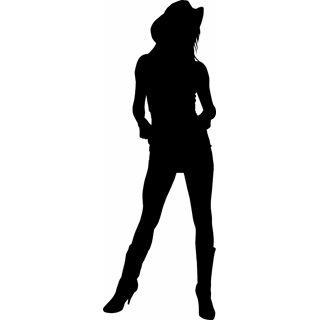 free cowgirl silhouette clip art
