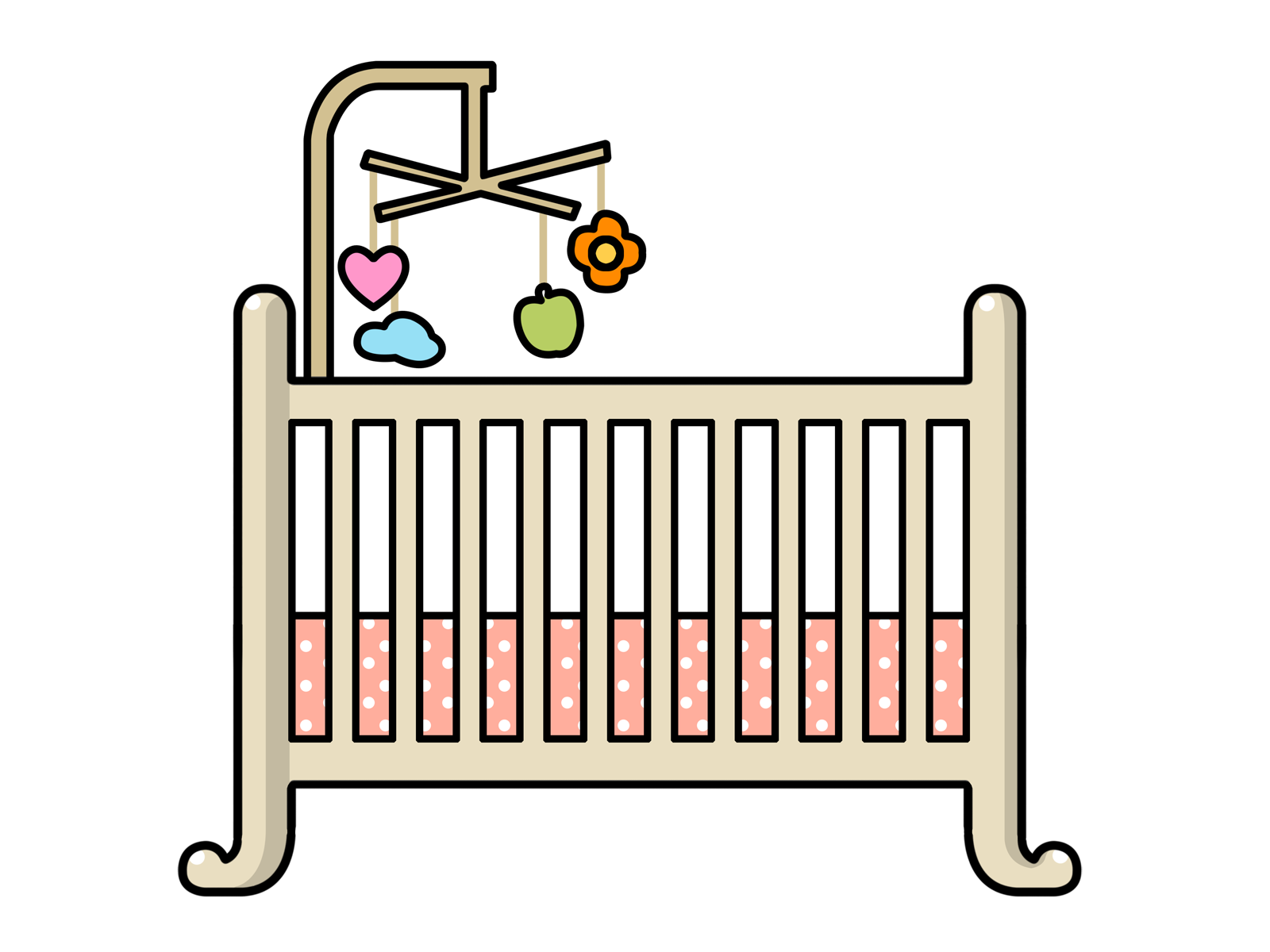 Free Crib Clip Art - Baby Crib Clipart