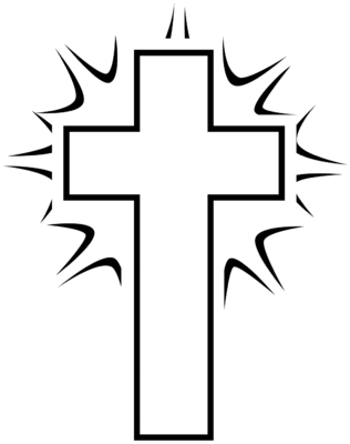 free cross clipart black and .-free cross clipart black and .-4