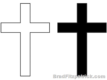 free cross clipart black and .-free cross clipart black and .-5