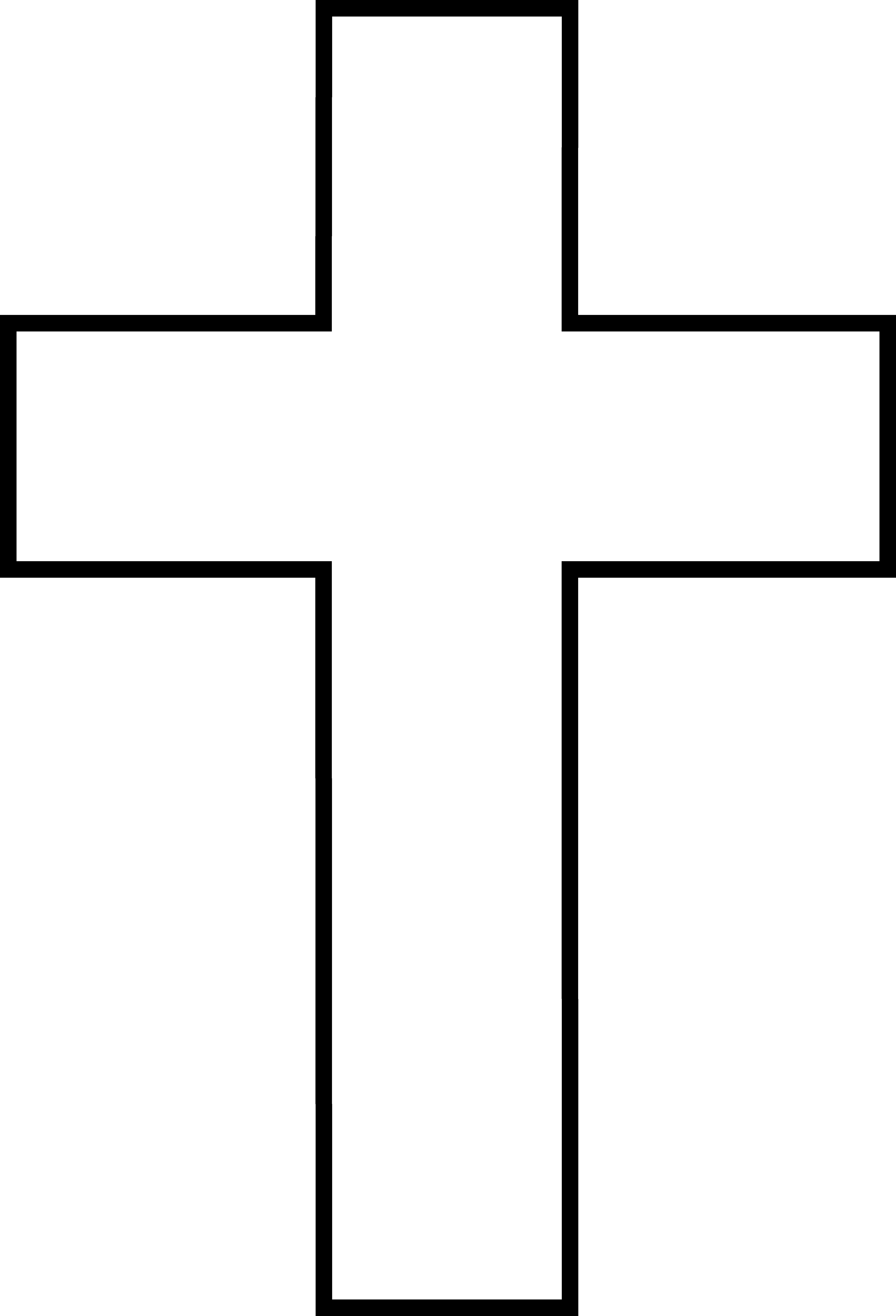 free cross clipart black and .-free cross clipart black and .-1