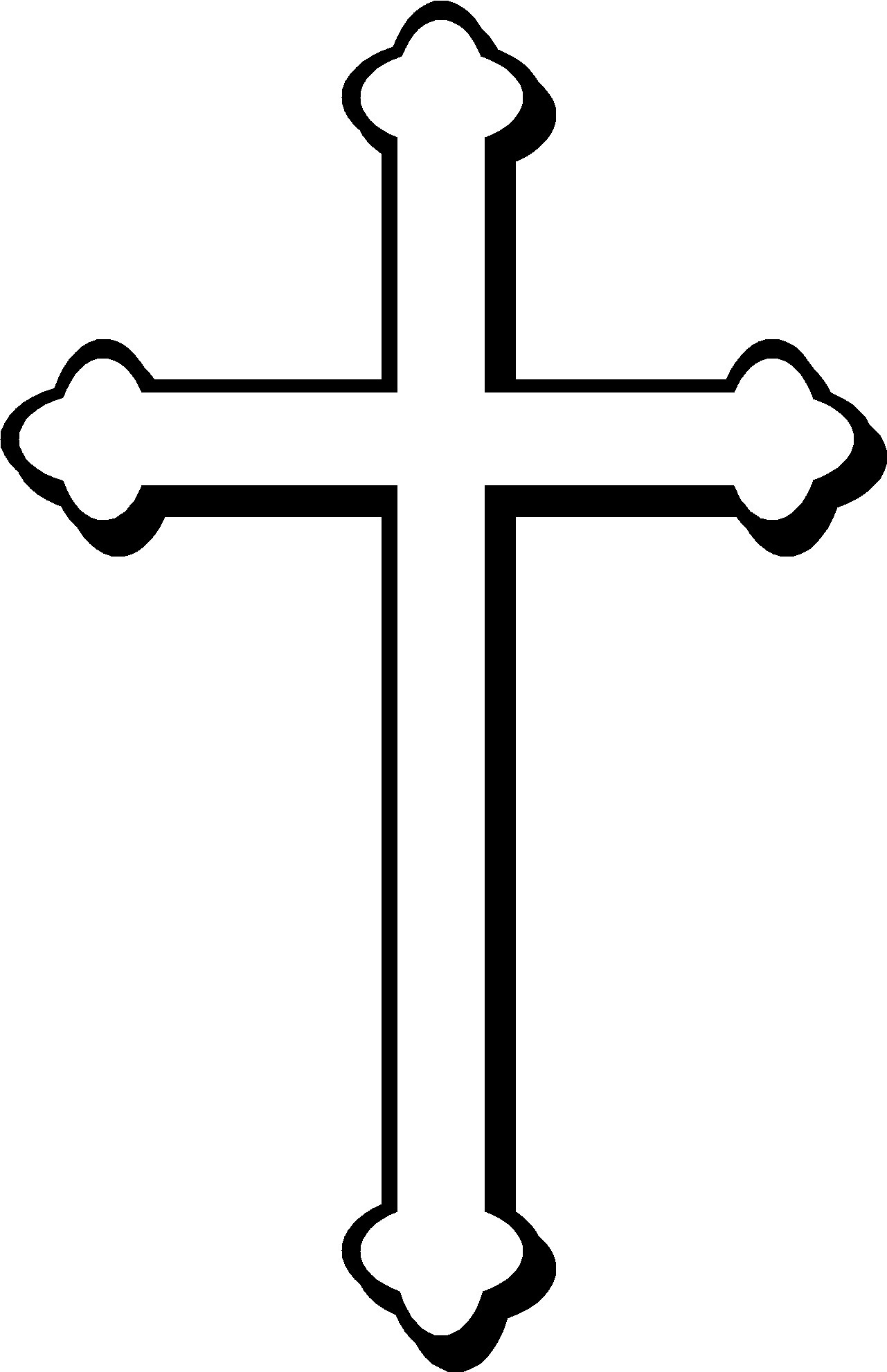 free cross clipart black and white-free cross clipart black and white-16