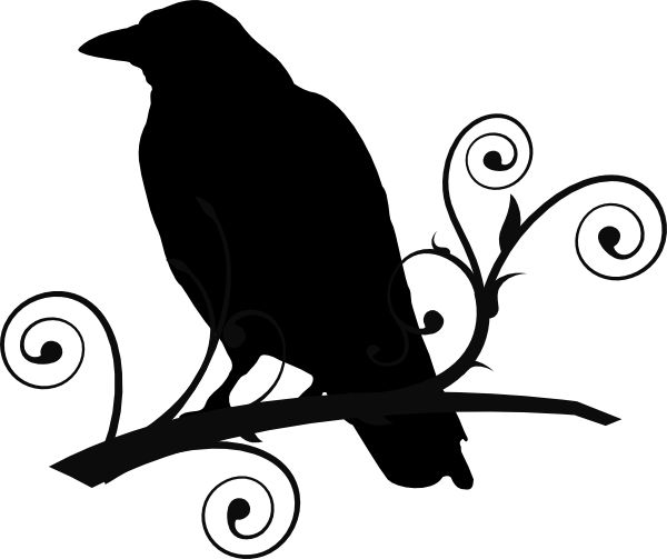Free Crow Patterns | Crow On Branch Clip-Free Crow Patterns | Crow On Branch Clip Art Vector Online Royalty Free-5