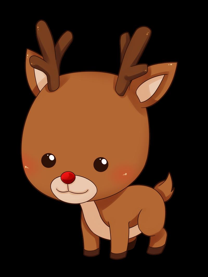 Free Cute Baby Reindeer Clip Art