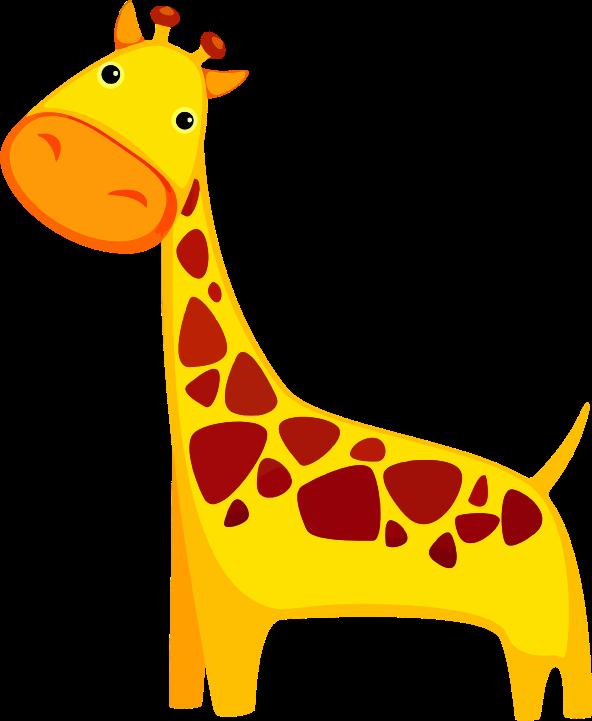 Free Cute Cartoon Giraffe Clip Art