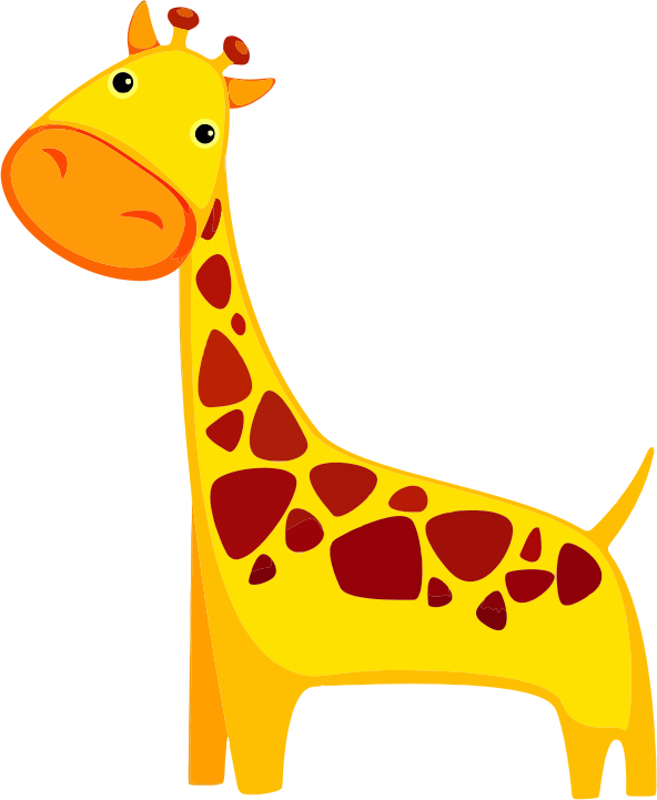 Free Cute Cartoon Giraffe Clip Art