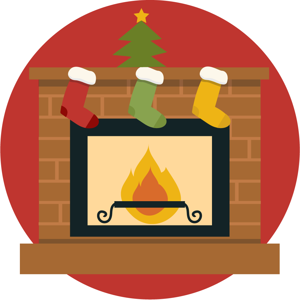 Free cute christmas fireplace clip art