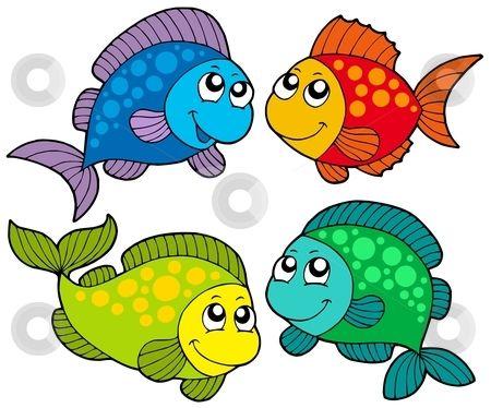 Free Cute Clip Art   Cute cartoon fishes collection stock vector clipart, Cute cartoon .