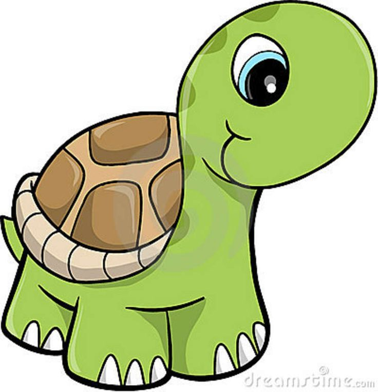 Free Cute Clip Art | Cute Safari Turtle Vector Illustration Royalty Free Stock Photos ... | Clipart | Pinterest | Royalty free stock photos, The white and ...