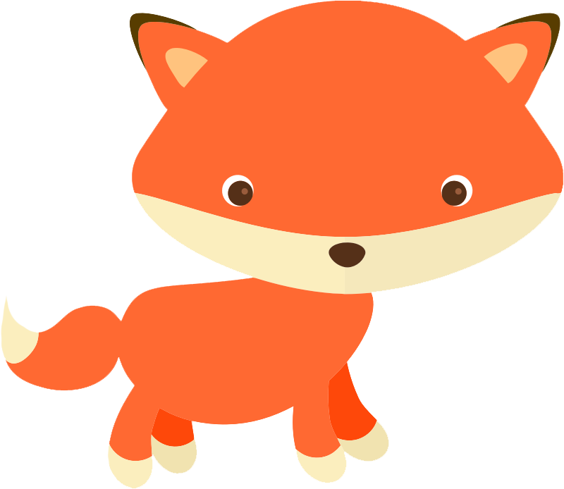 Free Cute Fox Clip Art