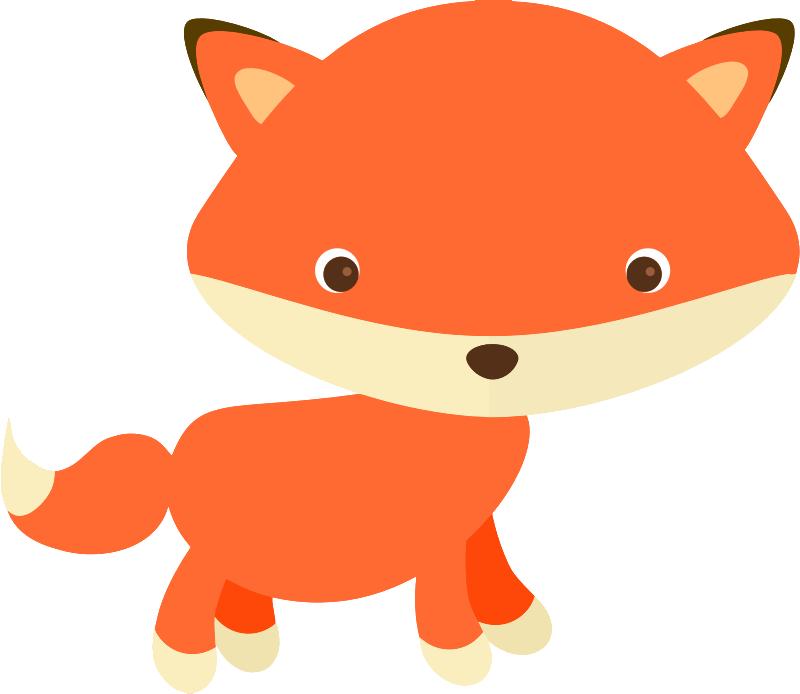 Free cute fox clip art-Free cute fox clip art-3