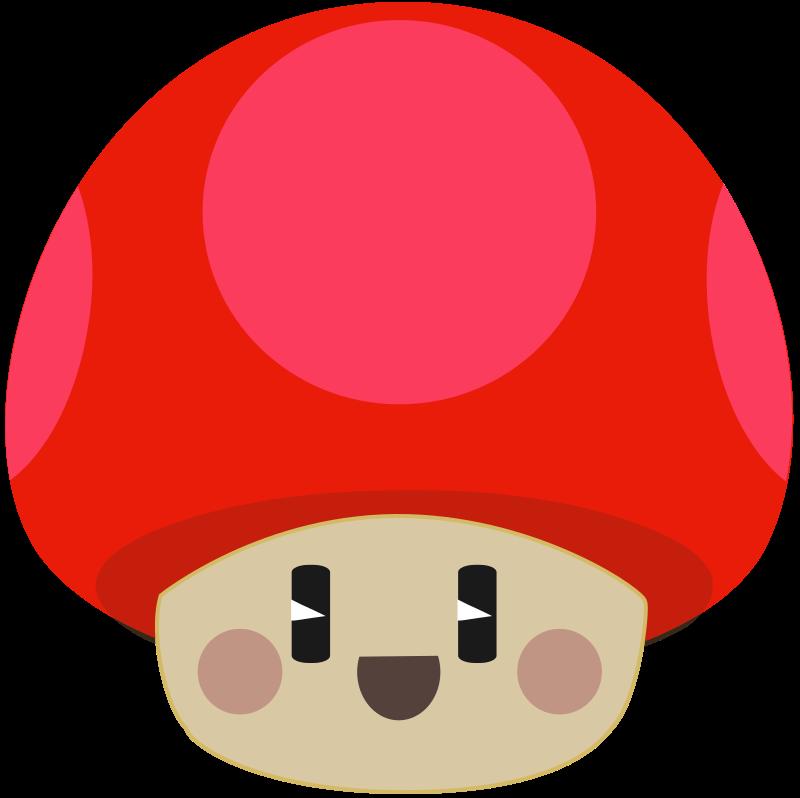 Free Cute Happy Cartoon Mushroom Clip Art