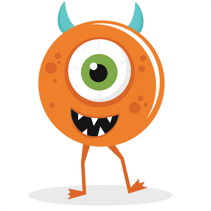free cute monster clip art .