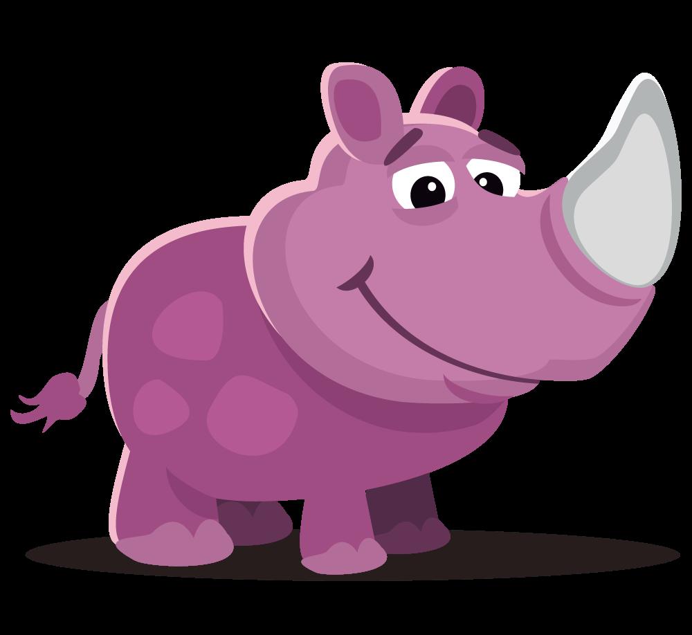 Free Cute Rhinoceros Clip Art u0026middot; rhinoceros7