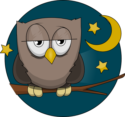 Free Cute Sleepy Owl Clip Art