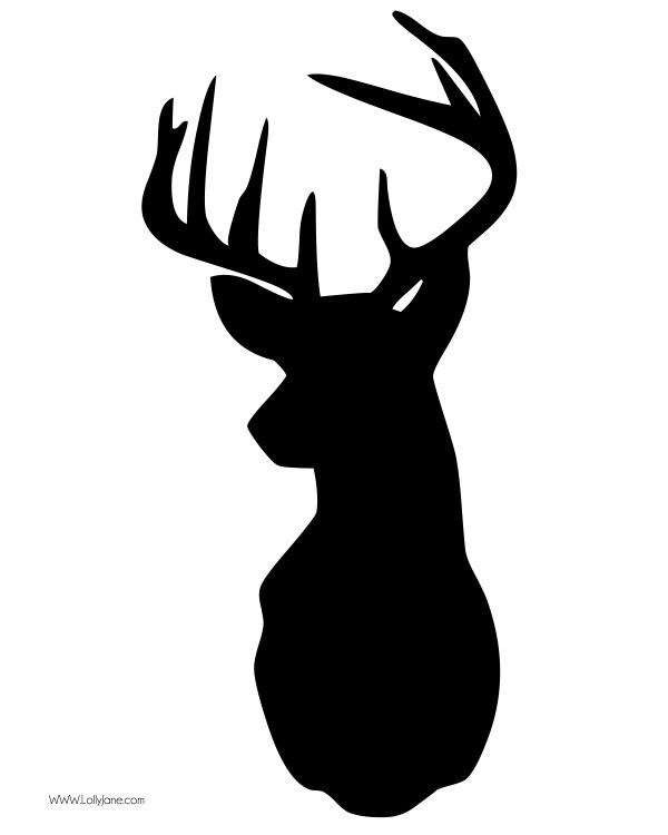FREE deer head clip art in high res. Great for printables and home decor projects