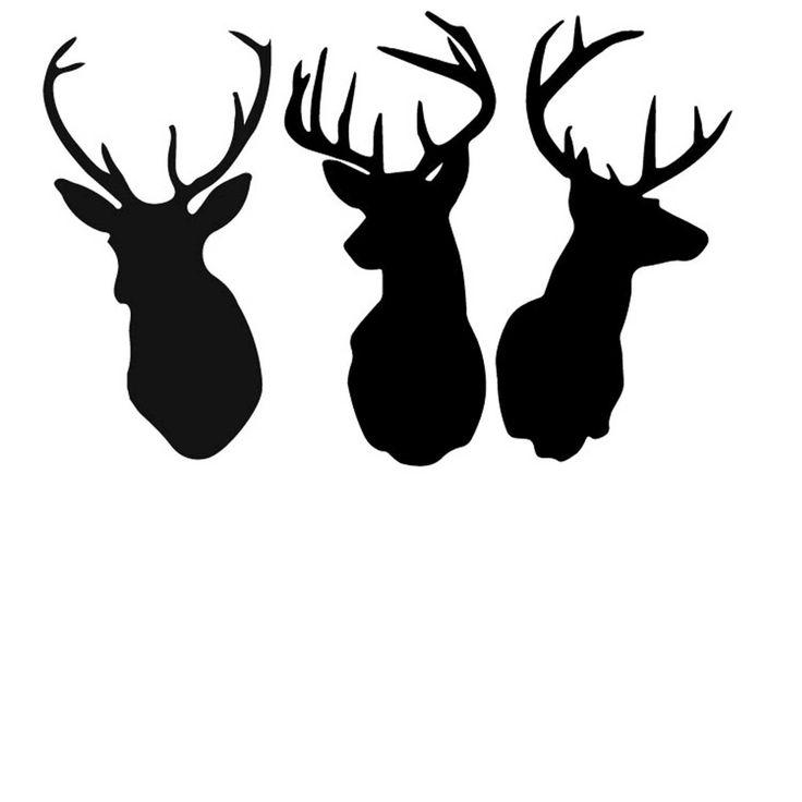 Free Deer Print Wood-Burning Patterns - -Free Deer Print Wood-Burning Patterns - Bing Images u0026middot; Deer Head Silhouette ...-11