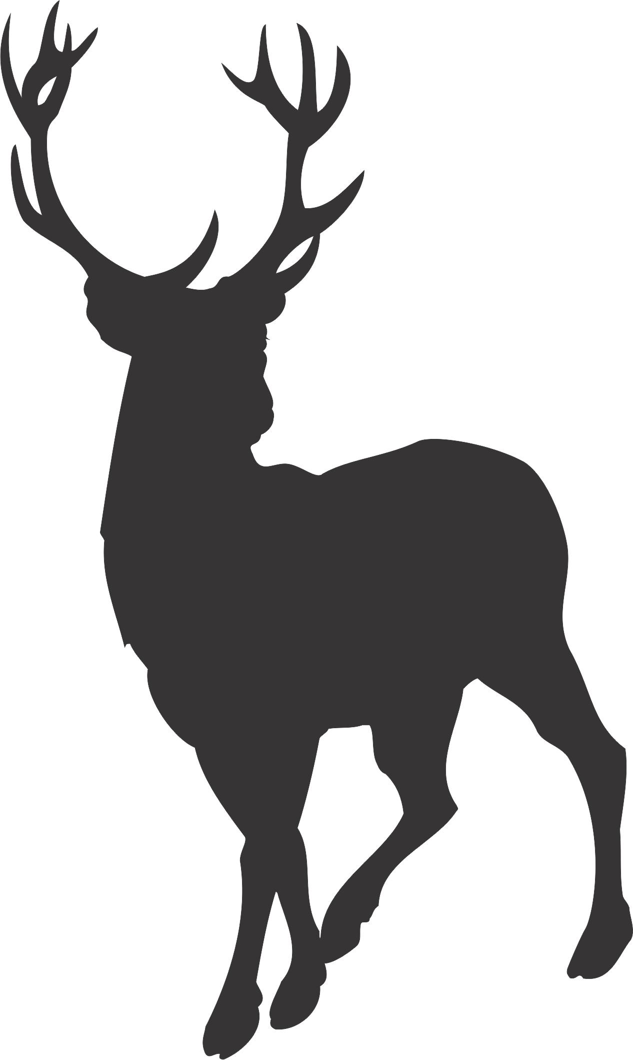 Free Deer Silhouette-Free Deer Silhouette-10