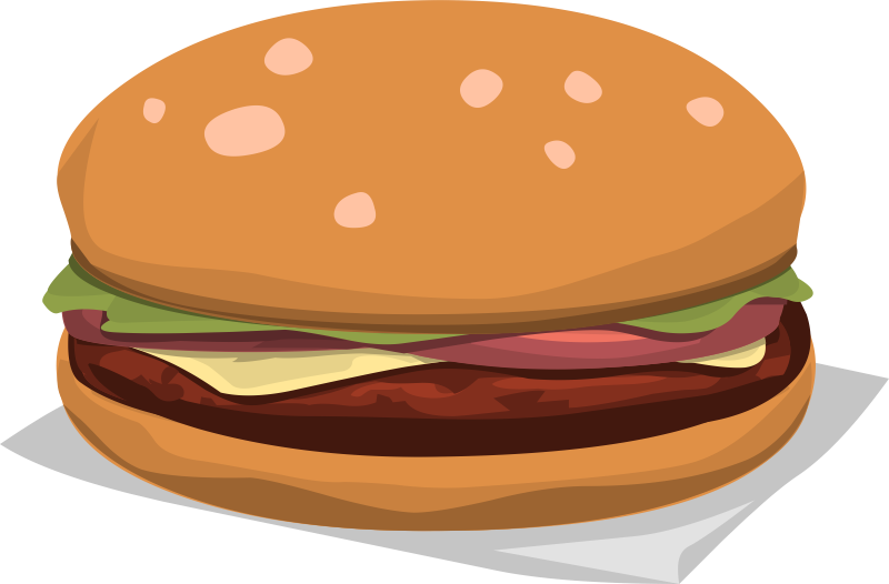 Free Delicious Hamburger Clip Art U0026m-Free Delicious Hamburger Clip Art u0026middot; hamburger12-1
