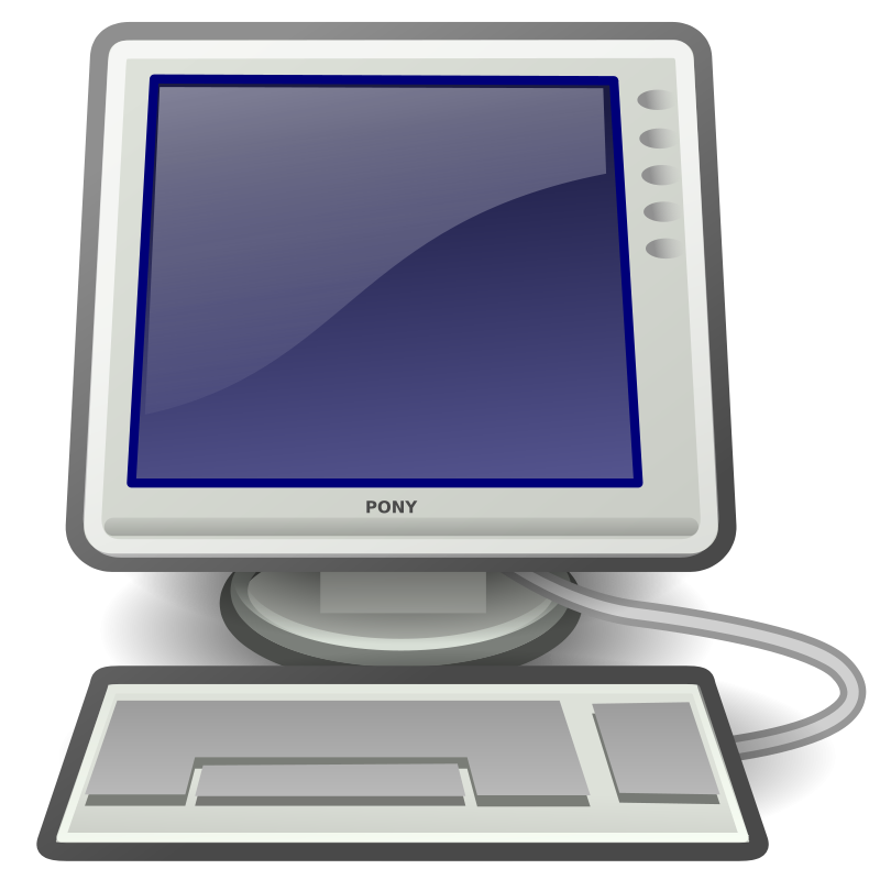 Free Desktop Computer Clip Art