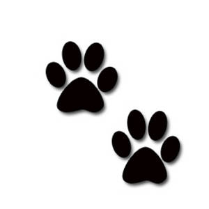 free dog clipart - Paw Print Clip Art Free